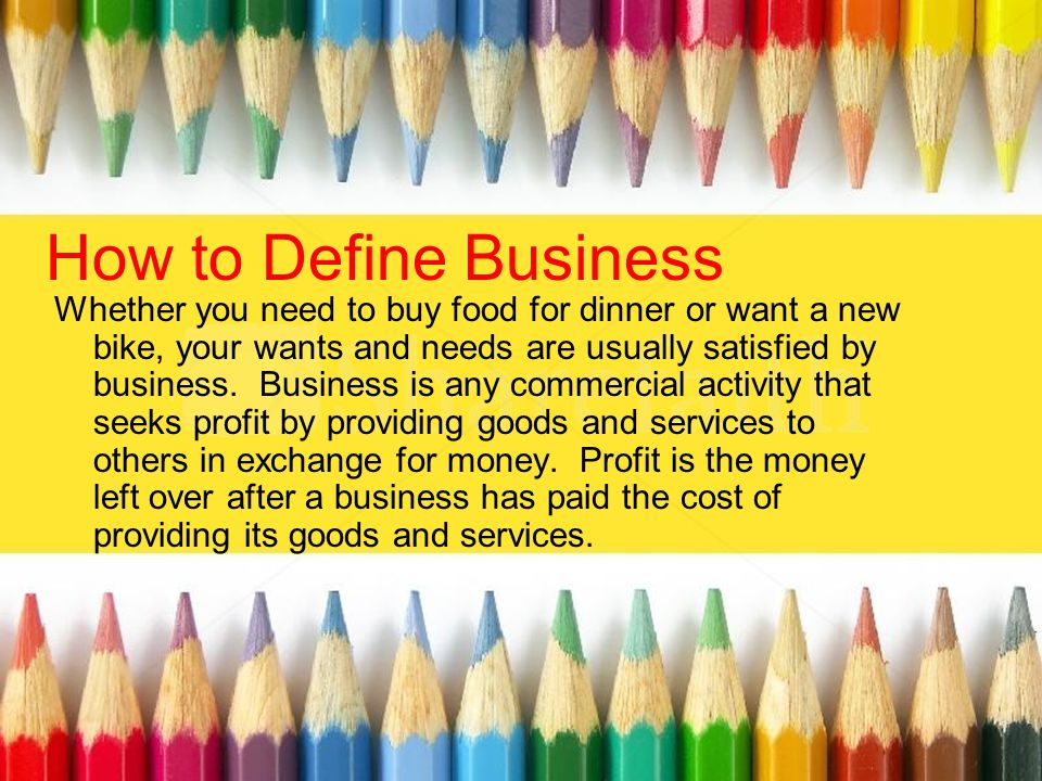 How to Define Business