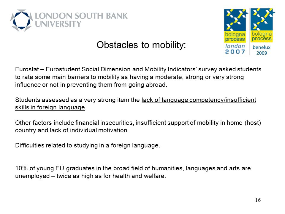 Obstacles to mobility: