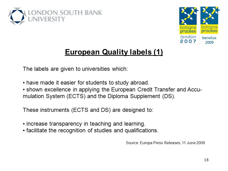 European Quality labels (1)