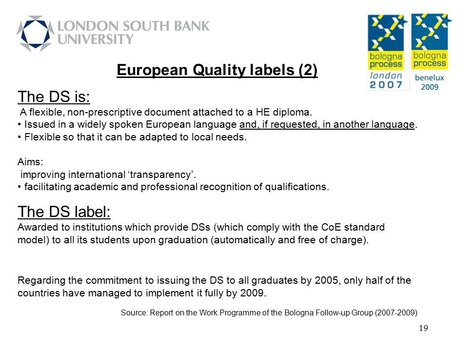 European Quality labels (2)