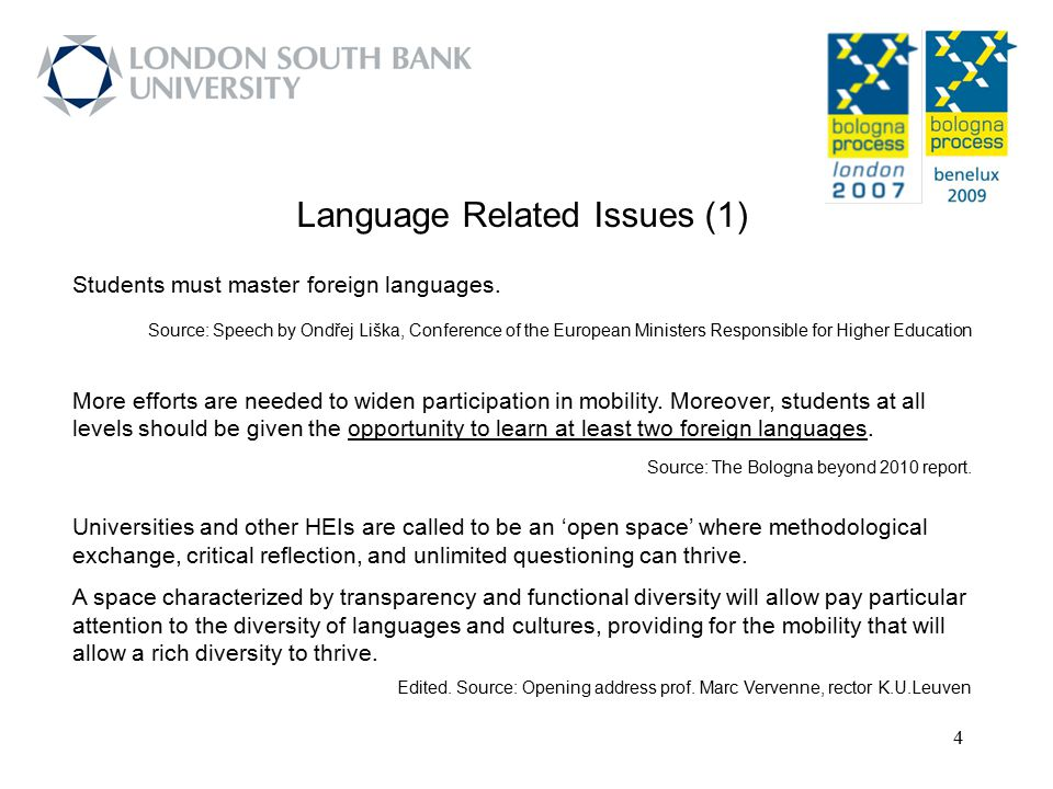 Language Related Issues (1)