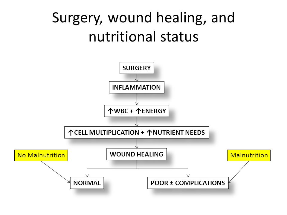 Surgery, wound healing, and nutritional status