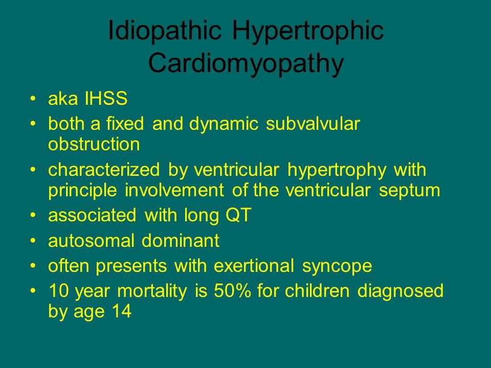 Idiopathic Hypertrophic Cardiomyopathy