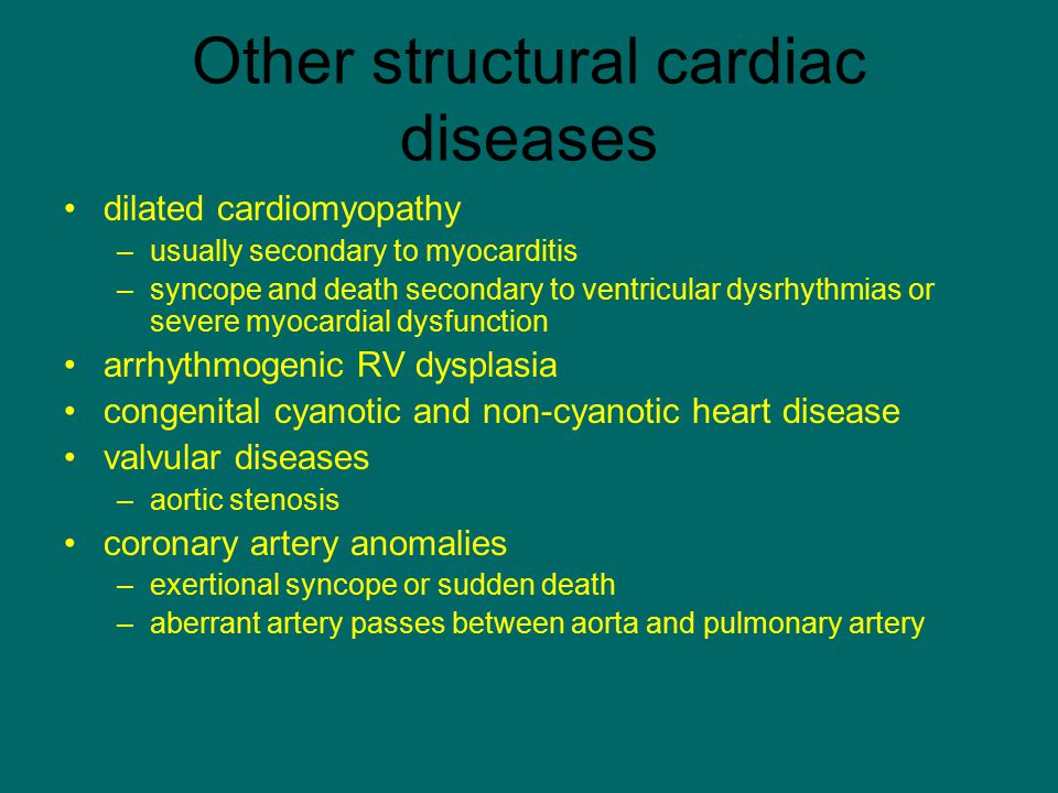 Other structural cardiac diseases