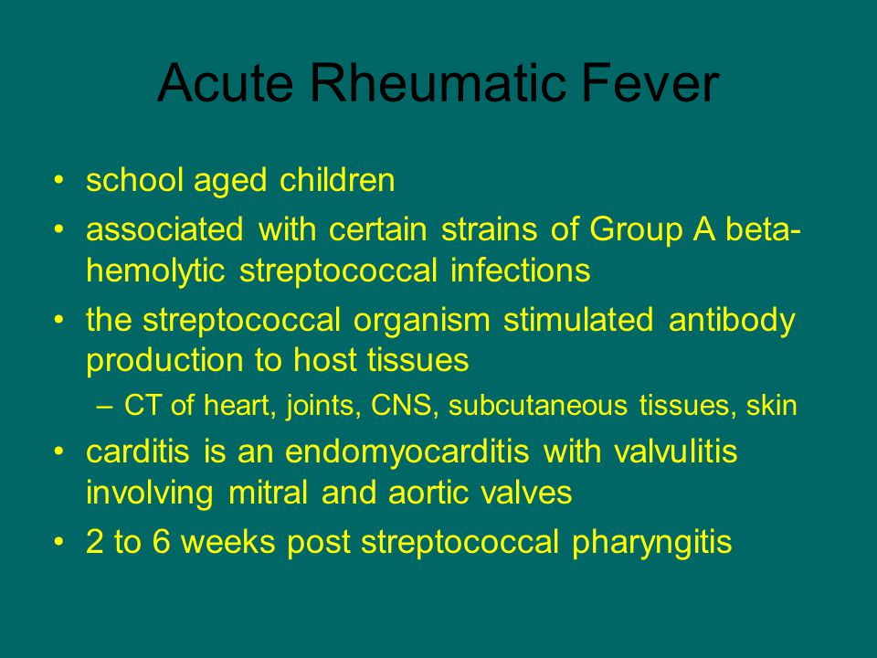 Acute Rheumatic Fever school aged children