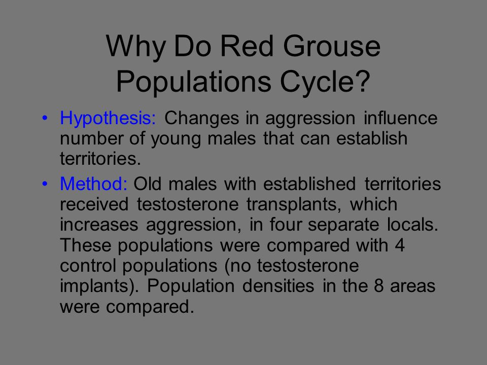Why Do Red Grouse Populations Cycle