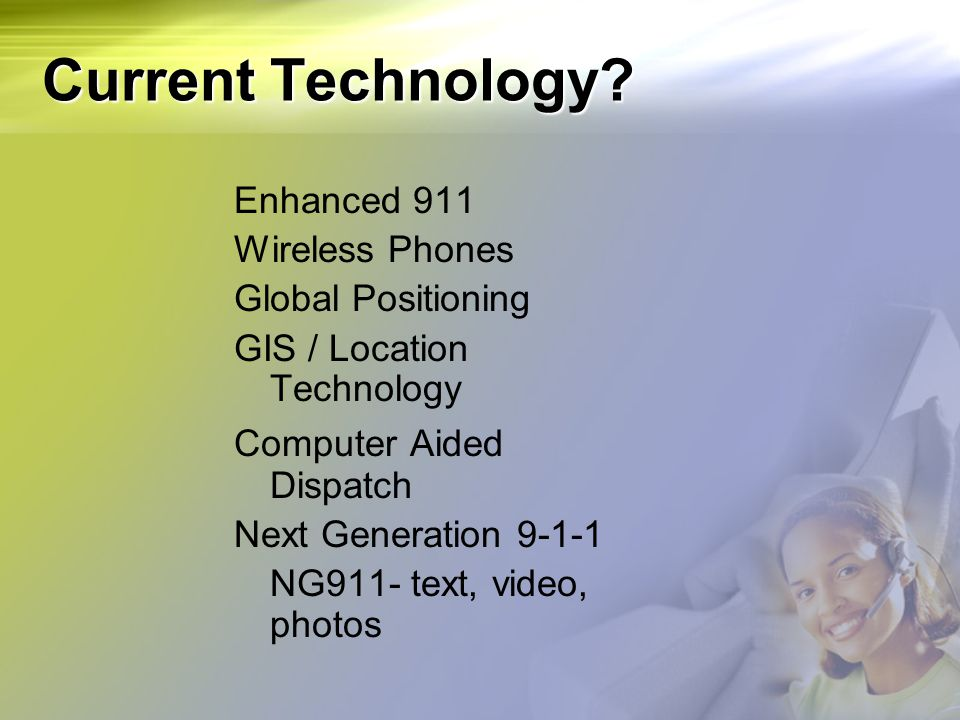 Current Technology Enhanced 911 Wireless Phones Global Positioning