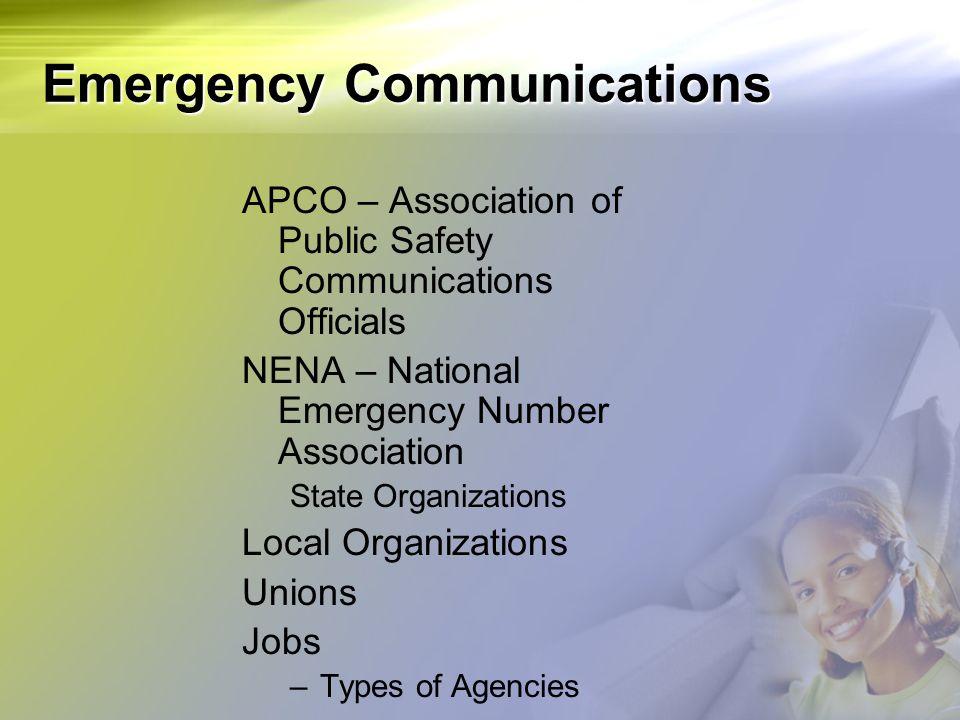 Emergency Communications