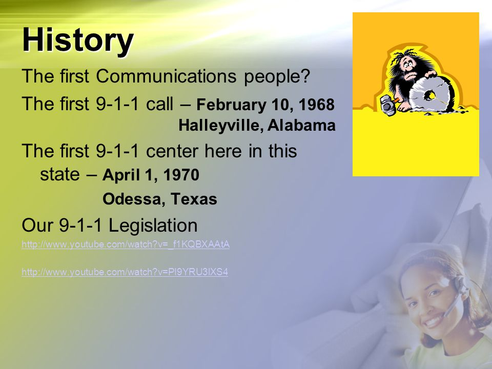 History The first Communications people