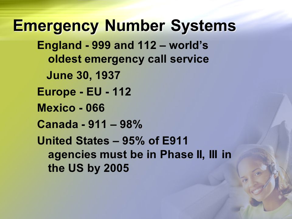Emergency Number Systems