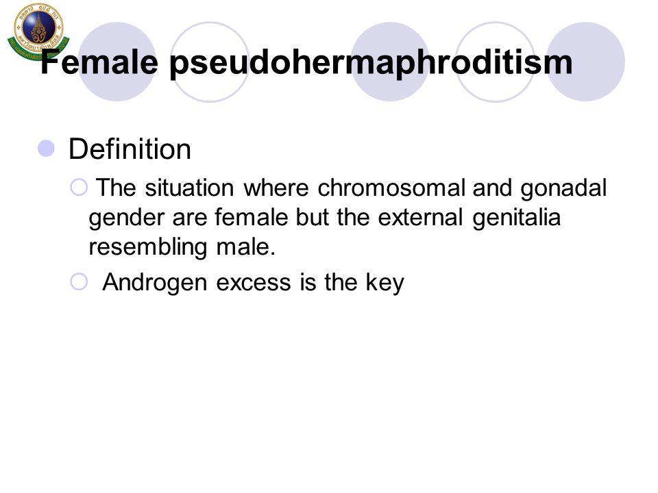 Female pseudohermaphroditism