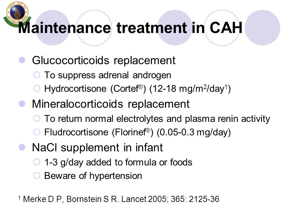 Maintenance treatment in CAH