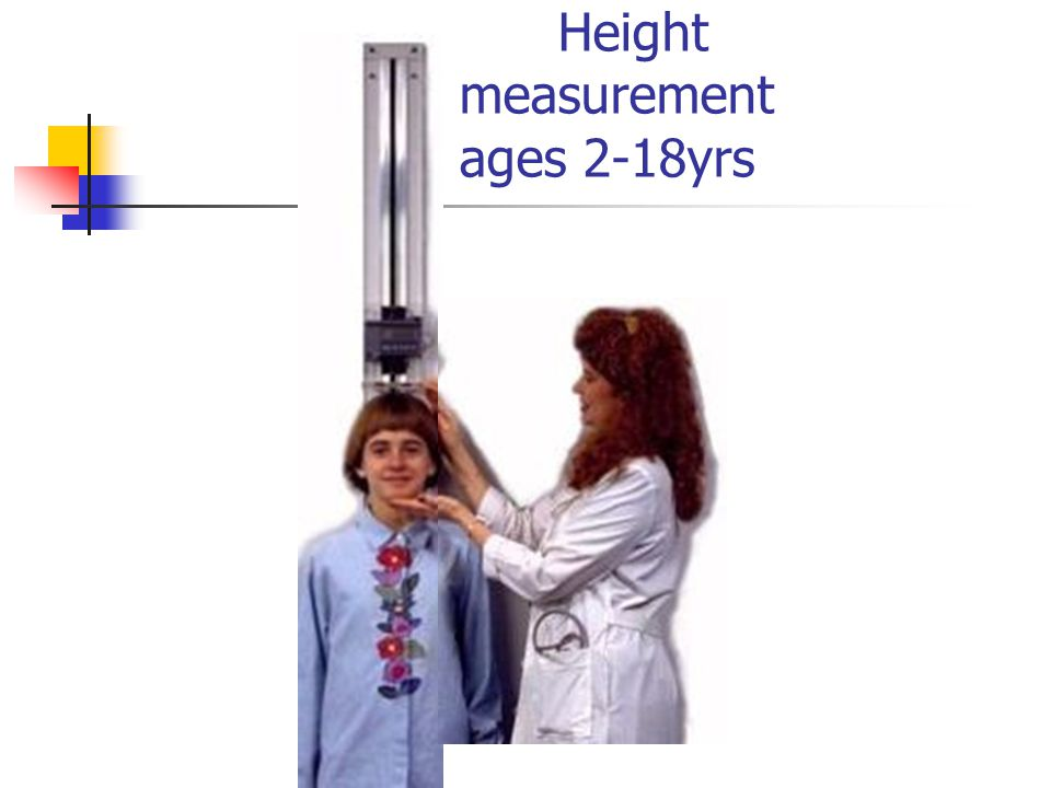 Height measurement ages 2-18yrs