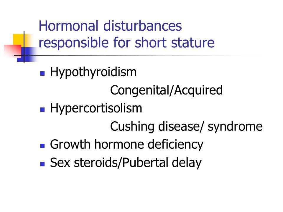Hormonal disturbances responsible for short stature