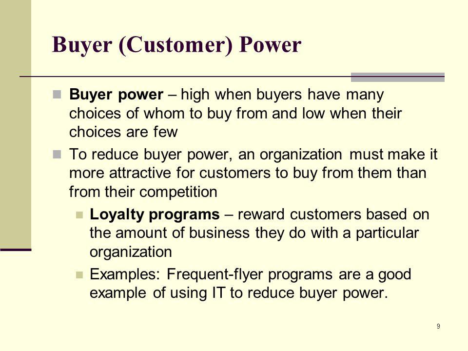 Buyer (Customer) Power