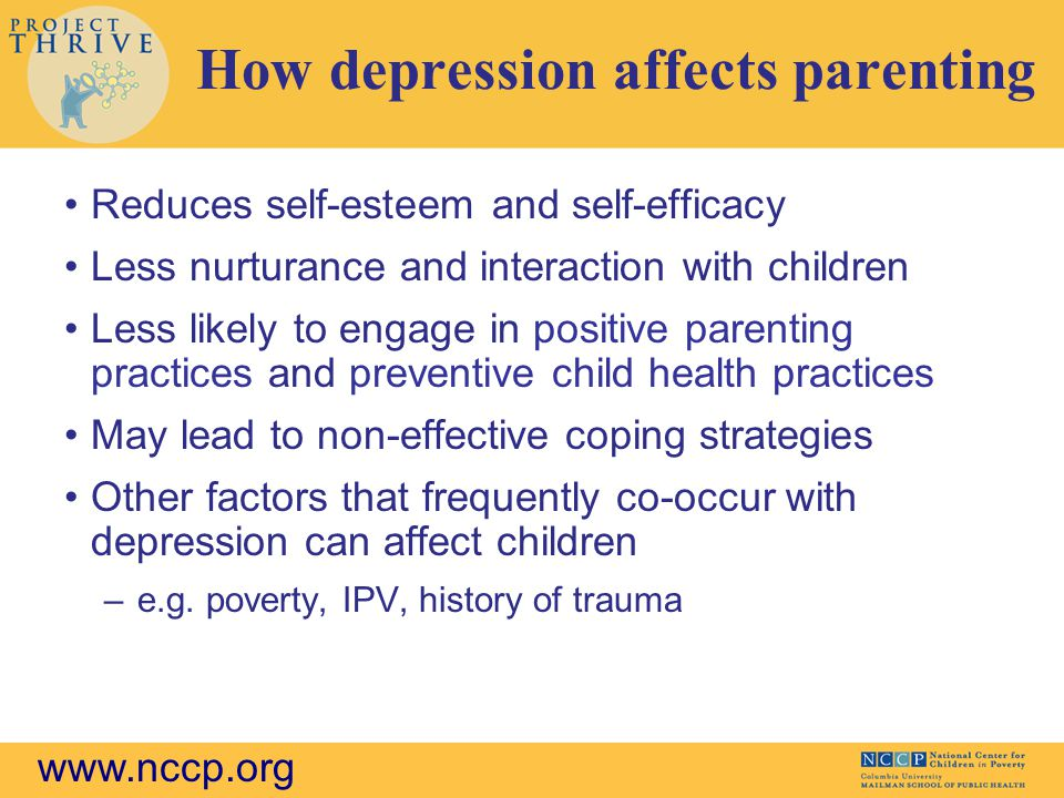 How depression affects parenting