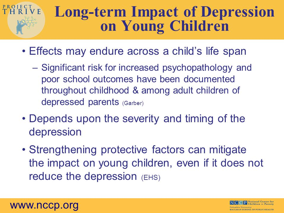 Long-term Impact of Depression on Young Children