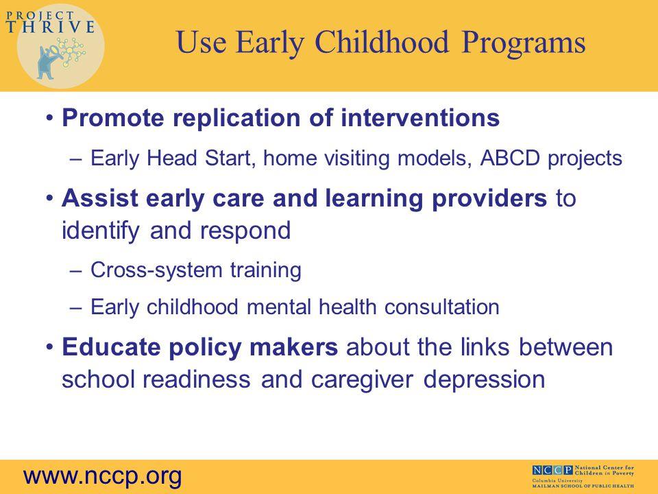 Use Early Childhood Programs
