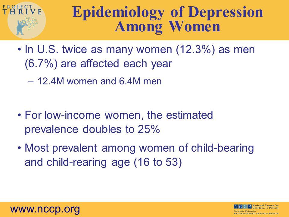 Epidemiology of Depression Among Women