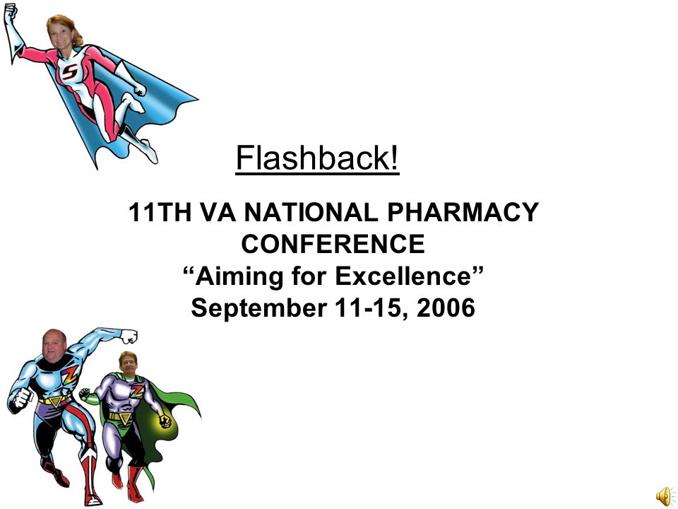 Flashback! 11TH VA NATIONAL PHARMACY CONFERENCE Aiming for Excellence September 11-15, 2006