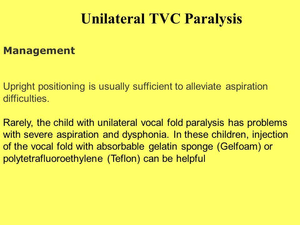 Unilateral TVC Paralysis