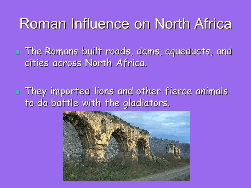 Roman Influence on North Africa