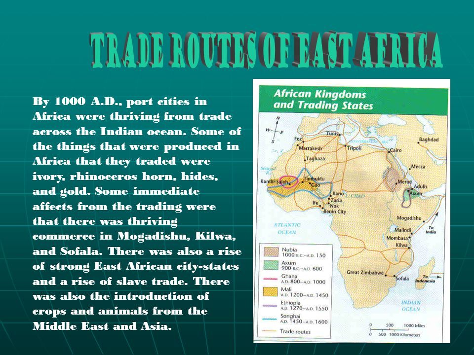 Trade Routes of East Africa