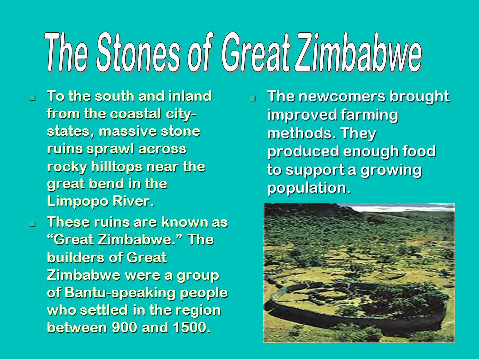 The Stones of Great Zimbabwe