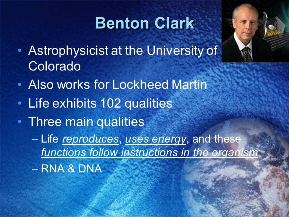 Benton Clark Astrophysicist at the University of Colorado