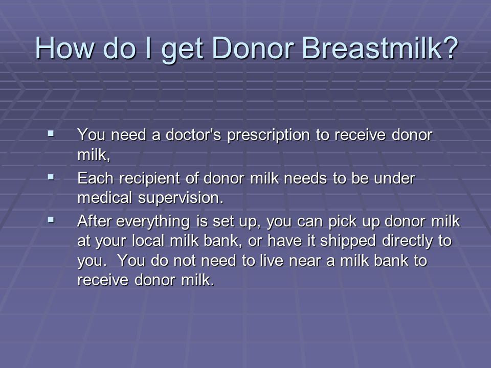 How do I get Donor Breastmilk