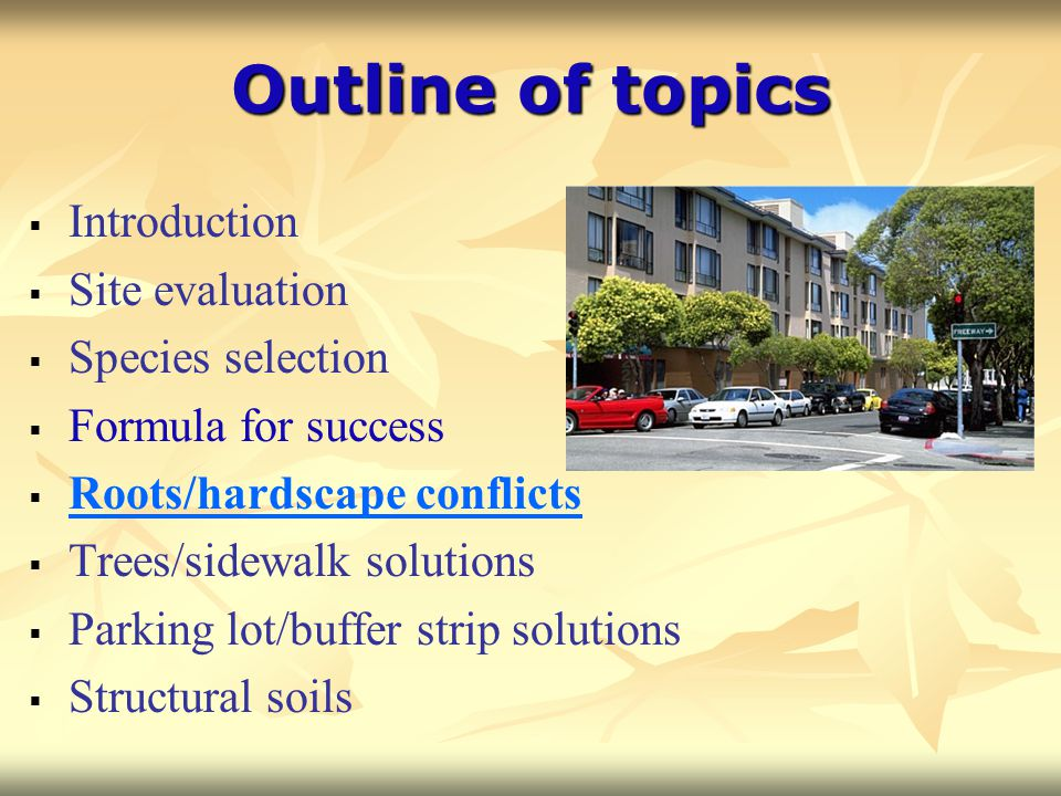 Outline of topics Introduction Site evaluation Species selection