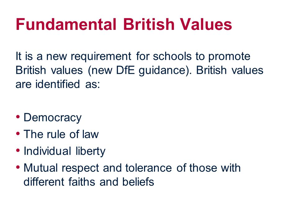 Fundamental British Values
