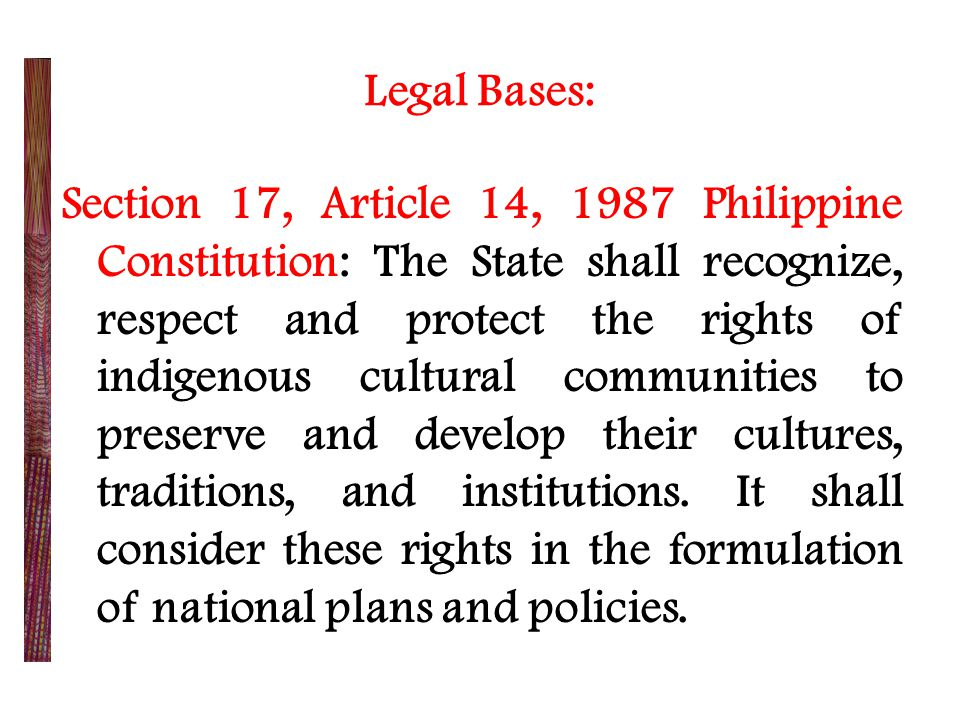 Legal Bases: