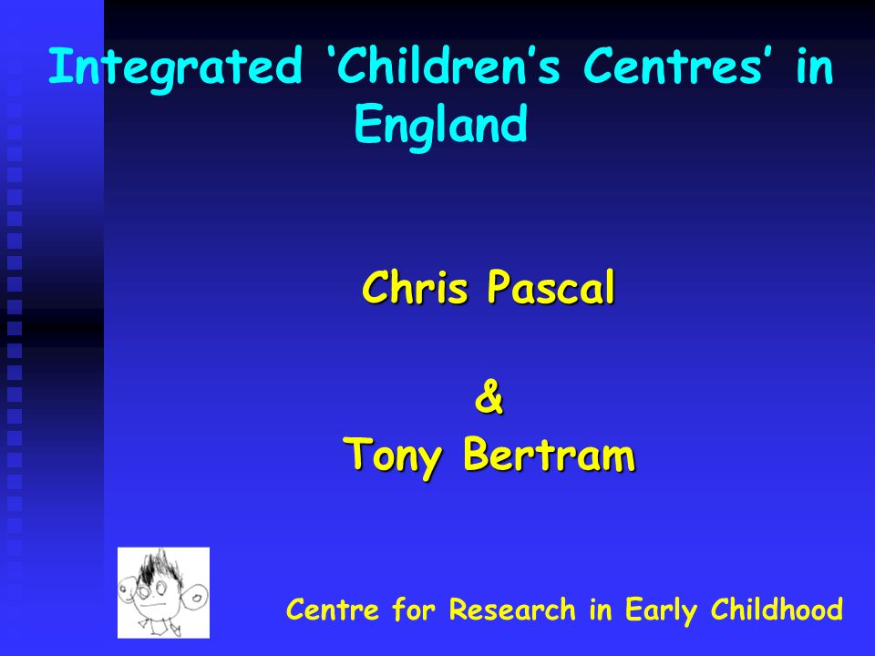 Integrated 'Children's Centres' in England
