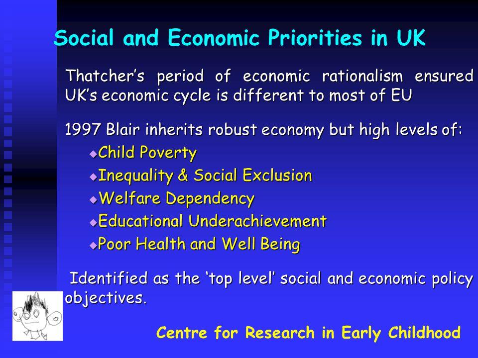 Social and Economic Priorities in UK