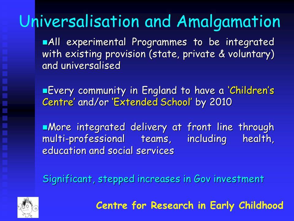 Universalisation and Amalgamation