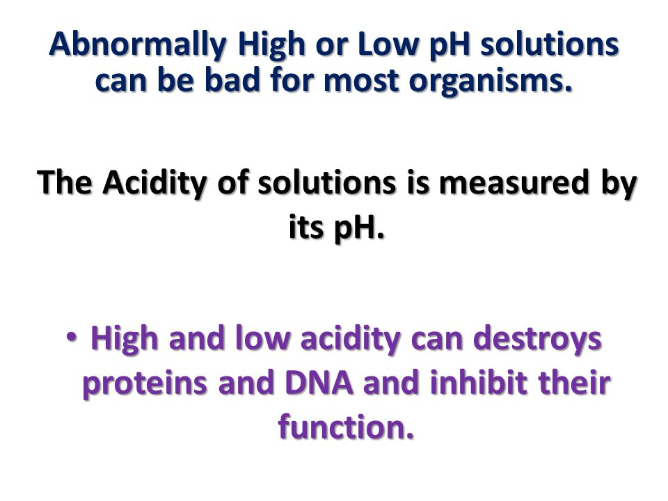 The Acidity of solutions is measured by its pH.