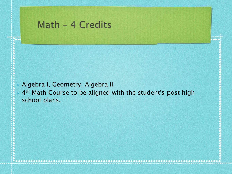 Algebra I, Geometry, Algebra II