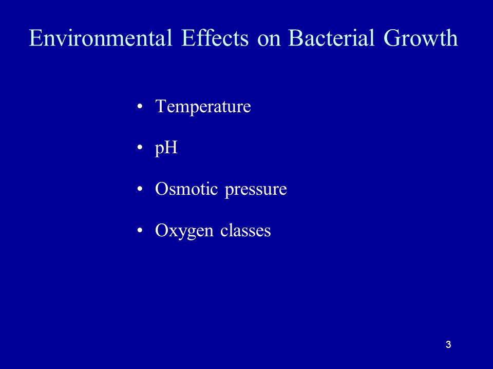 Environmental Effects on Bacterial Growth