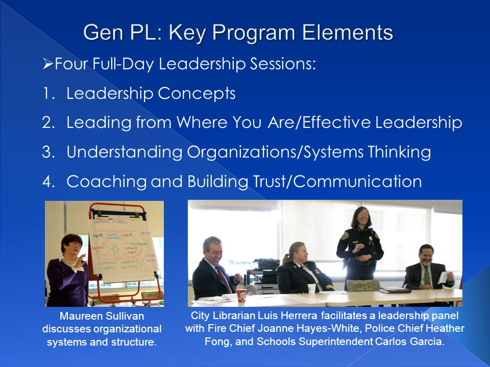 Gen PL: Key Program Elements