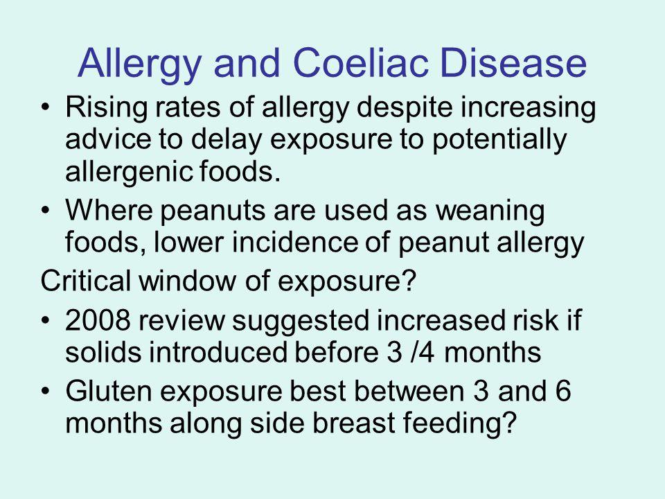 Allergy and Coeliac Disease