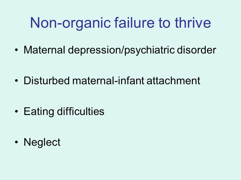 Non-organic failure to thrive