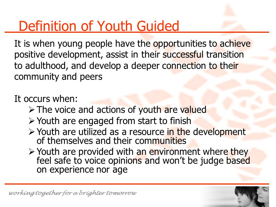 Definition of Youth Guided