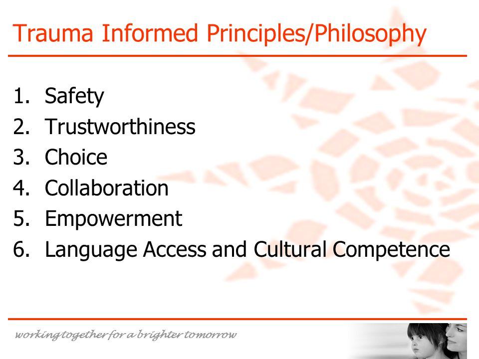 Trauma Informed Principles/Philosophy