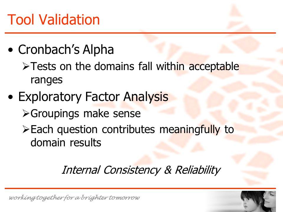 Internal Consistency & Reliability