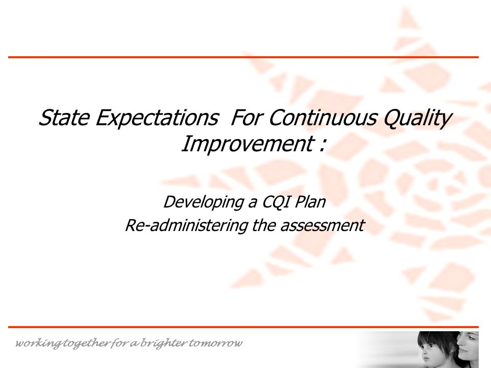State Expectations For Continuous Quality Improvement :