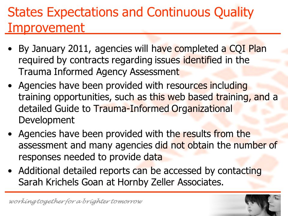 States Expectations and Continuous Quality Improvement