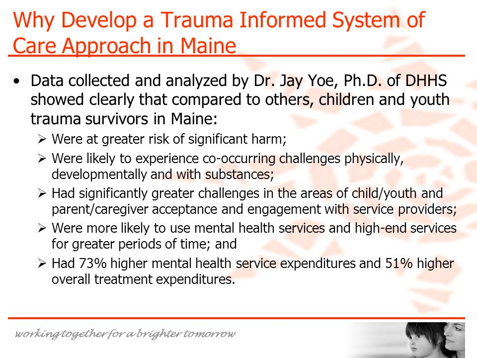 Why Develop a Trauma Informed System of Care Approach in Maine