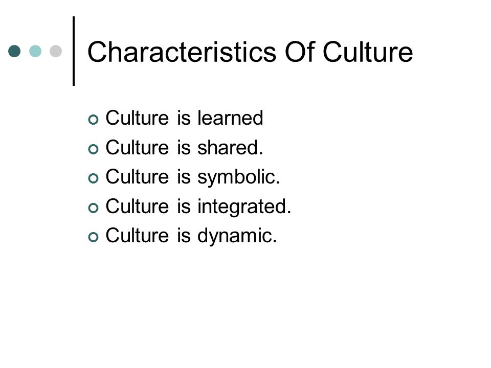 characteristics of service culture Does your organization have these 6 key characteristics of a culture of excellence or are you promoting a culture of mediocrity find out in eitan sharir's new ebook: culture.