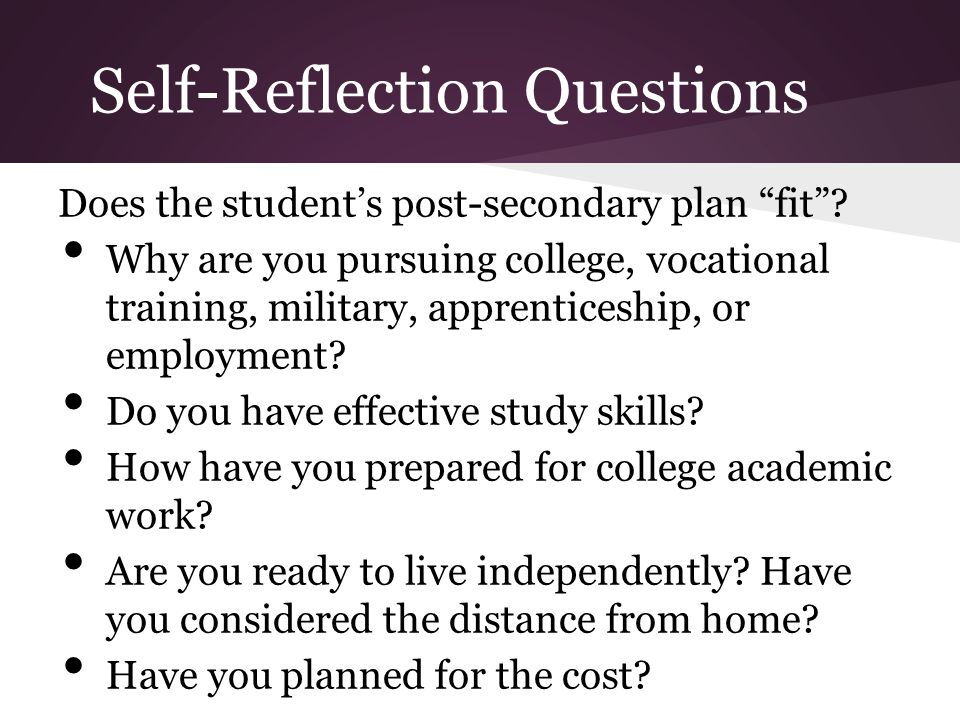 Self-Reflection Questions